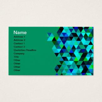 Motif de triangle de technologie de vert bleu cartes de visite