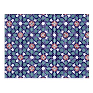 Motif de tuile d'empire de Seljuk Carte Postale
