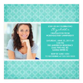 Motif de Turkquoise de photo d'invitation