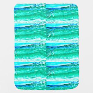 motif de vague bleu/vert de Maui Thunder_Cove Couvertures De Bébé