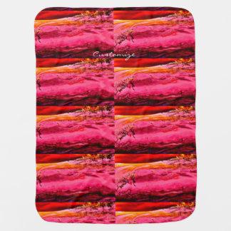 motif de vague rose/rouge de Maui Thunder_Cove Couvertures Pour Bébé