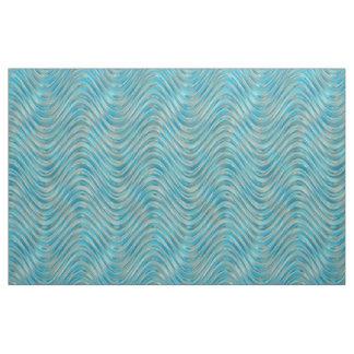 Motif de vagues en verre de Faux de vert bleu de Tissu