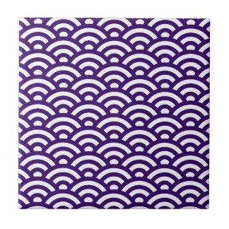 Motif de vagues petit carreau carré