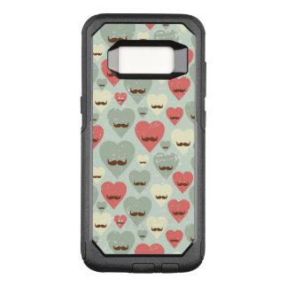 Motif de Valentine avec le coeur et la moustache Coque Samsung Galaxy S8 Par OtterBox Commuter