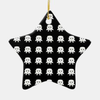 Motif de vampires de bébé d'Emoji Ornement Étoile En Céramique