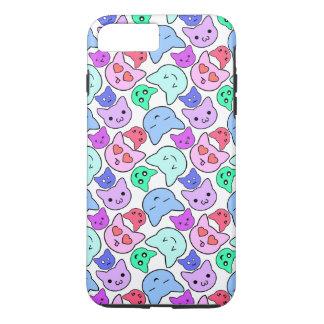 Motif de visage de chat de Kawaii Coque iPhone 7 Plus