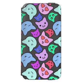 Motif de visage de chat de Kawaii Coque-portefeuille iPhone 6 Incipio Watson™