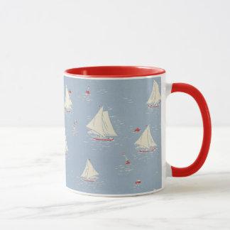 Motif de voilier mug