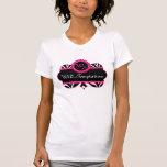 Motif de zèbre et T-shirt rose de coutume de dente