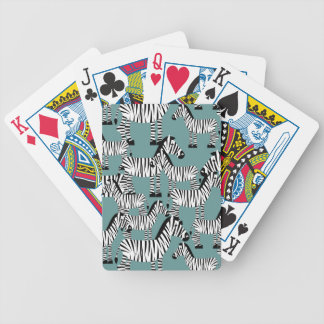 Motif de zèbre jeu de cartes