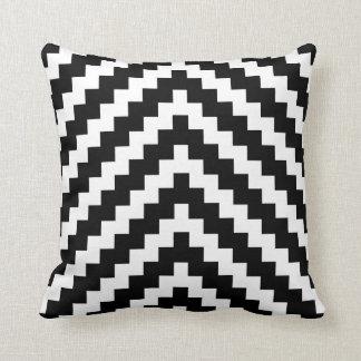 Motif de zigzag aztèque en noir et blanc