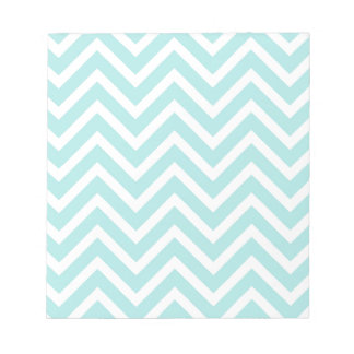 Motif de zigzag bleu-clair blocs notes
