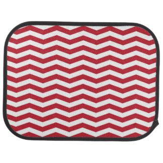 motif de zigzag rouge de vacances de l'effet 3D Tapis De Sol