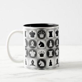 Motif d'échecs mug bicolore