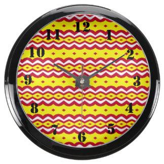 Motif décoratif abstrait horloge marine