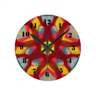 Motif décoratif coloré horloge ronde