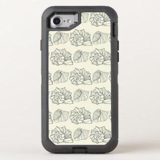 Motif décoratif de coquilles coque otterbox defender pour iPhone 7