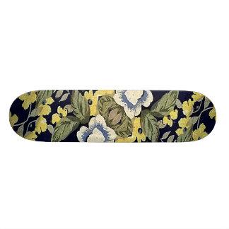 Motif décoratif floral d'arrière - plan de tissu skateboard customisable