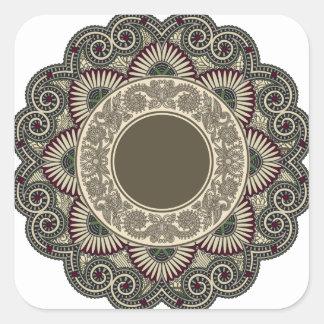 Motif décoratif sticker carré