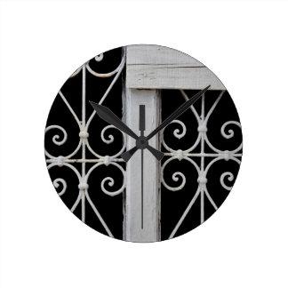 motif décoratif vintage en métal horloge murale