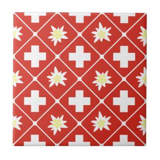 Motif d'edelweiss de la Suisse Carreau