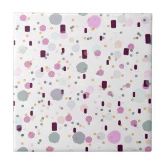 Motif d'effet d'éclaboussure d'aquarelle petit carreau carré