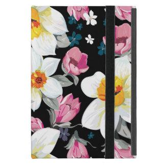 Motif d'élégance avec des fleurs de narcisse étui iPad mini