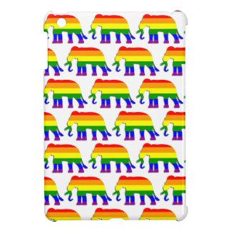 Motif d'éléphant d'arc-en-ciel coques iPad mini