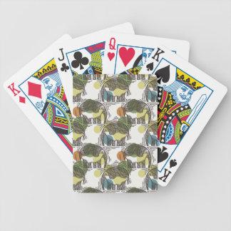 Motif d'éléphant jeu de cartes