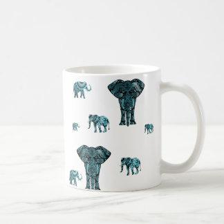 Motif d'éléphant mug