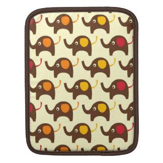 Motif d'éléphants de bonne chance bronzage housse iPad