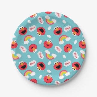 Motif d'Elmo et d'arcs-en-ciel Assiettes En Papier