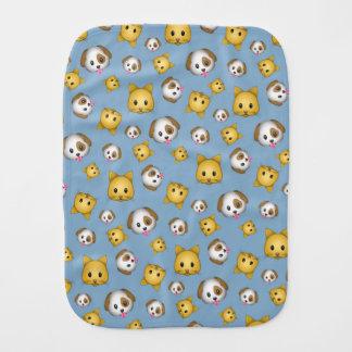 Motif d'Emoji de chats et de chiens Linges De Bébé