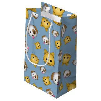 Motif d'Emoji de chats et de chiens Petit Sac Cadeau