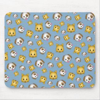 Motif d'Emoji de chats et de chiens Tapis De Souris