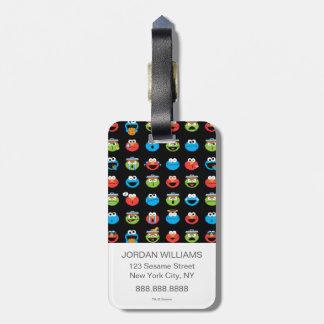 Motif d'Emoji de copains de Sesame Street Étiquettes Bagages