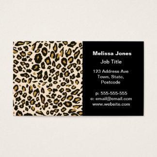 Motif d'empreinte de léopard cartes de visite