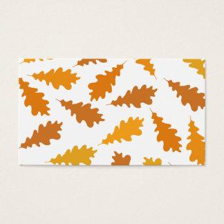 Motif des feuilles d'automne cartes de visite