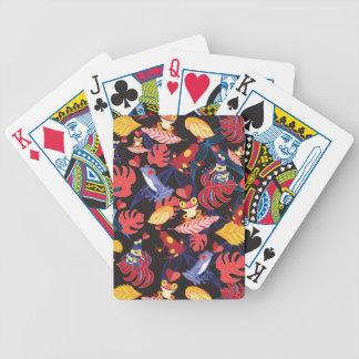 Motif des grenouilles d'amants jeu de poker
