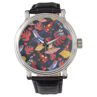 Motif des grenouilles d'amants montres bracelet