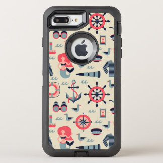 Motif d'espèce marine coque OtterBox defender iPhone 8 plus/7 plus
