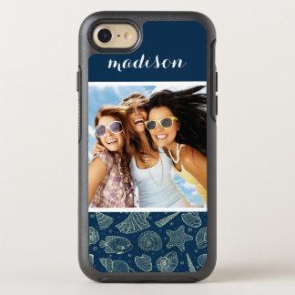 Motif | d'habitants d'océan votre photo et nom coque OtterBox symmetry iPhone 8/7