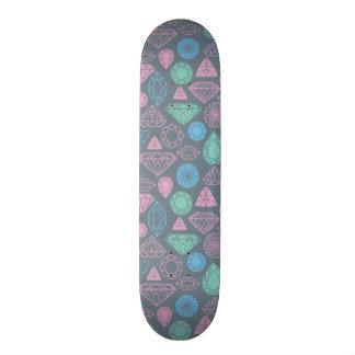 Motif d'icône de pierre gemme plateau de skate