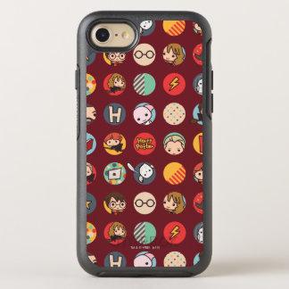 Motif d'icônes de bande dessinée de Harry Potter Coque Otterbox Symmetry Pour iPhone 7