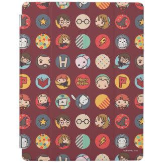 Motif d'icônes de bande dessinée de Harry Potter Protection iPad
