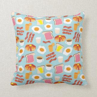 Motif d'illustrations de nourriture de petit coussin décoratif