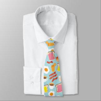 Motif d'illustrations de nourriture de petit cravate
