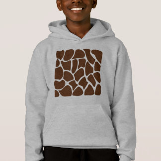Motif d'impression de girafe dans Brown foncé