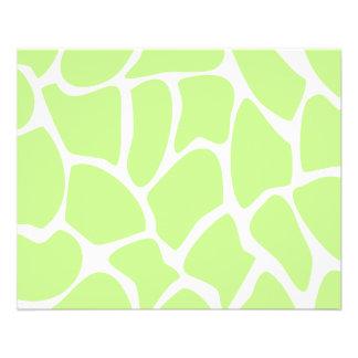 Motif d'impression de girafe en vert de chaux lége prospectus