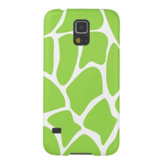 Motif d'impression de girafe en vert de chaux protections galaxy s5